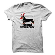 """Do you love your little Doxie?  This Shirt is for YOU! What a Fun Fun Cute Design!  Wear this for the Holidays and Stay Warm in our Hoodie Selections!  Sing to the tune of """"Dashing Through the Snow"""" and ... Laughing All the Way!"""