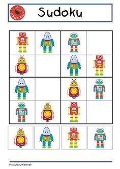 Sudoku puzzle : les robots