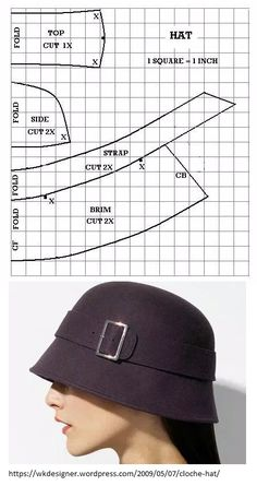 Awesome Picture of Beanie Hat Pattern Sewing Hat Patterns To Sew, Clothing Patterns, Sewing Patterns, Hat Pattern Sewing, Fashion Sewing, Fashion Fabric, Costura Fashion, Hat Making, Sewing Techniques
