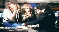 Bon Jovi and Tom Keffier of Cinderella ( their so cute eating pizza!!)