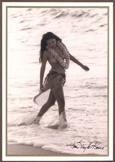 Female Dancer - He U'i - Kim Taylor Reece - Notecard 12 Pack - Mail Order Hawaii Kim Taylor Reece, Hawaiian Dancers, Hawaiian Art, Tahitian Dance, Polynesian Dance, Hawaii Pictures, Female Dancers, Hula Dancers, Ancient Beauty