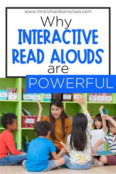 Using interactive read alouds in first grade or kindergarten is a must! Interactive read aloud lessons are a powerful. Follow this interactive read aloud routine and teach meaningful reading strategies to your kids. Having a solid reader's workshop mini-lesson routine is gold! Guided Reading Lessons, Reading Strategies, Reading Skills, Teaching Reading, Kindergarten Reading, Kindergarten Classroom, Teaching Kids, Classroom Ideas, Comprehension Activities
