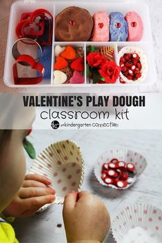 Valentine's Day Play Dough Kit - The Kindergarten Connection Valentines Day Activities, Valentine Day Crafts, Indoor Activities For Kids, Toddler Activities, Winter Activities, Toddler Fun, Toddler Crafts, Play Doh Kits, Creative Writing Ideas