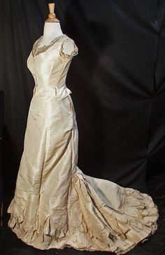 1870'S 2 PIECE BALL GOWN