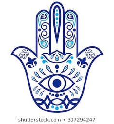 """Imagens, fotos stock e vetores similares de Color Hamsa hand drawn symbol with mantra OM. Decorative pattern in oriental style for the interior decoration and henna drawings. The ancient sign of """"Hand of Fatima"""". Hamsa Hand Tattoo, Hand Tattoos, Hamsa Tattoo Design, Hamsa Art, Tatoos, Hamsa Drawing, Henna Drawings, Hand Kunst, Hand Der Fatima"""
