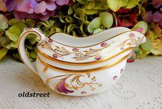 Copeland Spode Grosvenor Porcelain Creamer ~ Merlin Gold Burgundy Purple #CopelandsGrosvenor
