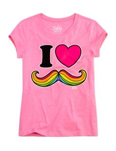 I Love Mustache Graphic Tee......In a DIFFERENT color... like purple.