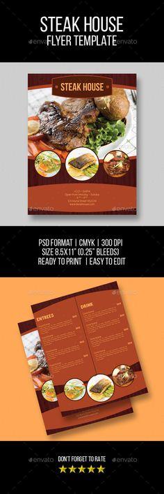 Restaurant and Food Menu Flyer - Food Menu Print Template PSD - menu flyer template