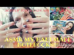 ASMR my Handmade Notebooks! Tapping and scratching! Handmade Notebook, Asmr, Notebooks, Learning, Color, Autonomous Sensory Meridian Response, Studying, Colour, Notebook