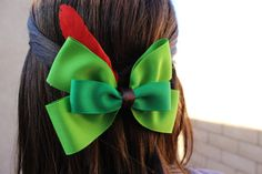 Peter Pan Inspired Disneybound Bow by BowsBowsGalore on Etsy, $8.00