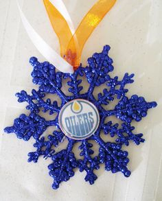 Edmonton OILERS Hockey Fans Christmas Ornament by ZZsTeamTime