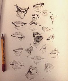 "5,996 Likes, 37 Comments - Laura Brouwers (@cyarine) on Instagram: ""Some mouths I doodled~ thought I'd upload them haha. Have a nice Monday! I tweeted some things…"""