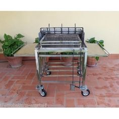 Stainless Steel Barbecue. Customize Realizations. 853 Kitchen Cart, Outdoor Living, Home And Garden, Stainless Steel, Smokers, Grills, Accessories, Home Decor, Outdoor Life
