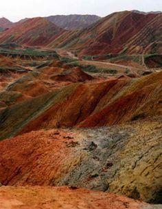 Danxia Landform, Gansu, China