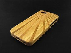 Flashing Dark Bamboo Wood iPhone 5s Case - Real Wood iPhone 5 Case - Custom iPhone 5s Case Wood - Wooden iPhone 5 Case - Christmas Gift