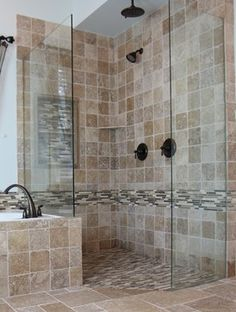 Building a New Home: Doorless Showers   Doors, Downstairs bathroom ...