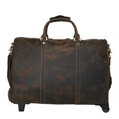 248.56$  Buy here - http://alip24.worldwells.pw/go.php?t=32784739835 - Designer Luxury Fashion Genuine Leather Duffle Bag for Men Trolley Travel Luggage Bags Organizer Large Weekend Overnight  Tote 248.56$
