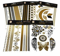 Assorted Metallic Temporary Tattoos | 9398489 | Wholesale New Trends