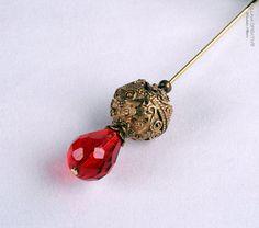 Glorious Gold Stick Pin, 3 Inch Hat Pin, Scarf Pin, Hijab Pin KC0361 via Etsy