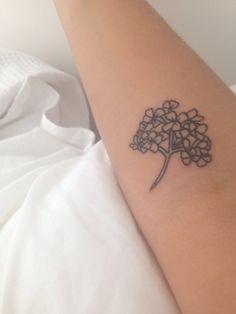 hydrangea tattoo - Google Search