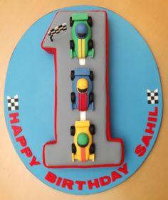 the cupcake gallery - kids' birthday - 1st birthday car cake