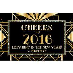 New Year's Eve Art Deco Door Sign