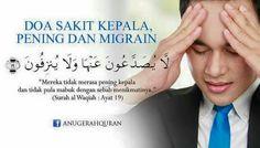 Doa Sakit Kepala, Pening & Migrain