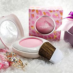 1Pcs Blusher With Mirror And Brush. 6 colors!