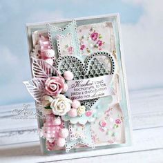 Ideas Vintage Wedding Cards Handmade Ideas Valentines Day For 2019 Pretty Cards, Cute Cards, Diy Cards, Shabby Chic Karten, Shabby Chic Cards, Mothers Day Cards, Valentine Day Cards, Valentines, Mixed Media Cards