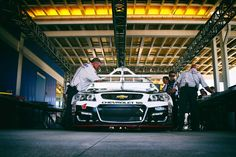 At-track photos: Saturday, Kansas:   Sunday, May 8, 2016  -   The No. 4 car of Kevin Harvick goes through inspection before the NASCAR Sprint Cup Series GoBowling 400 at Kansas Speedway.  -   Photo Credit: Photo by Sean Gardner/NASCAR via Getty Images
