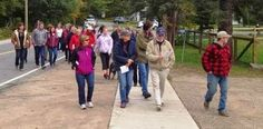Great turn out for the walk with Brad Robinson Sunday, Sept. 22 in Dorset.   Photo by Kate Weatherell.