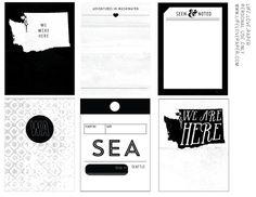 Image of *new* Washington printable journal cards