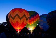 hot air balloon night glow