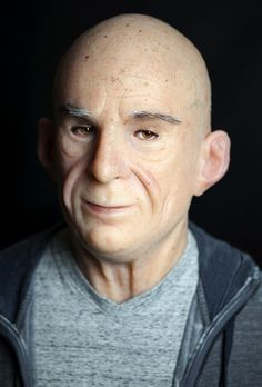 """ABOUT Old Man """" Barrie """" MASK Realistically natural skin appearance, complete with hand-made moles, warts, liver spots, veins, wrinkles and individually-inserted eyebrow, facial hairs. Every man-made phenomenon has its own philosophy and history of progress.   eBay!"""
