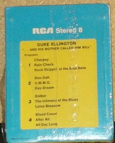Sealed Jazz 8-Track Tape Duke Ellington And His Mother Called Him Bill by…