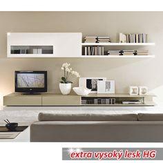 Obývací stěna DONATELA | Nábytek ATAN | Obývací pokoje Living Room Furniture, Flat Screen, Sweet Home, Bedrooms, Design, Entertainment Centers, Blood Plasma, Lounge Furniture, House Beautiful