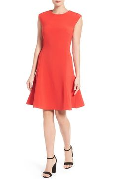 Halogen® Ottoman Knit Fit & Flare Dress (Regular & Petite) available at #Nordstrom
