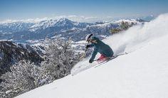 Lightening Ridge at Powder Mountain Resort looks especially good after a snowstorm.