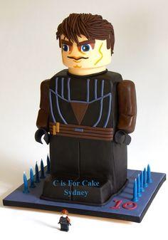 Anakin minifig cake