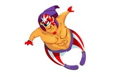 Cartoon Wrestler by ChristobalMikhovski on @creativemarket