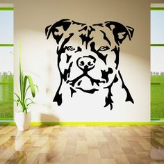 Staffordshire Bull Terrier Dog Vinyl Wall Art Decal