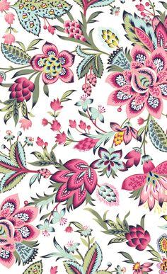 Textile Pattern Design, Textile Patterns, Pattern Art, Print Patterns, Botanical Flowers, Botanical Prints, Floral Prints, Design Ios, Floral Drawing