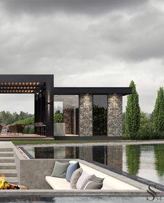 Villa Design, Modern House Design, Mawa Design, Interior Design Website, Luxury Homes Dream Houses, Dream House Exterior, House Goals, Exterior Design, Future House