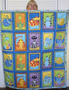 Linda Dick's Cat Panel Quilt