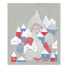 冬のグリーティングスポンジワイプ (点と線模様製作所/冬の村)