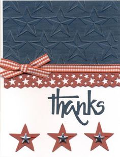 Honor Flight by scootsv - Cards and Paper Crafts at Splitcoaststampers Military Cards, Military Quotes, Honor Flight, Angel Cards, Embossing Folder, Thank You Cards, 4th Of July, Craft Projects, Card Making
