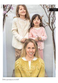 Tiriljakke children Girls Dresses, Flower Girl Dresses, Knit Cardigan, Mittens, Fur Coat, Couple Photos, Knitting, Couples, Wedding Dresses