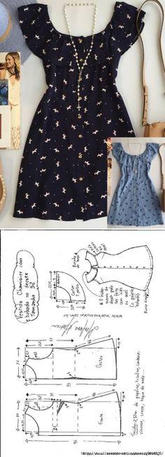 Платье-рубашка (платье-шемизье) с рюшами на вырезе