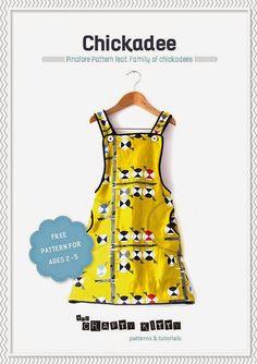 Free Chickadee Pinafore PDF Pattern   By The Crafty Kitty