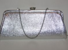 Items similar to Vintage Silver Lame Evening Clutch Rhinestone Flower Clasp on Etsy Bridesmaid Clutches, Vintage Silver, Handmade, Stuff To Buy, Etsy, Hand Made, Craft